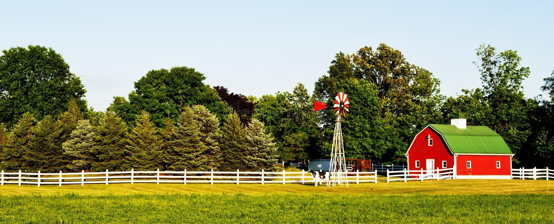Maison de ferme aux Etats-Unis photos libres de droits