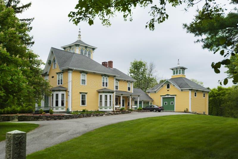 Maison de ferme de la Nouvelle Angleterre photographie stock