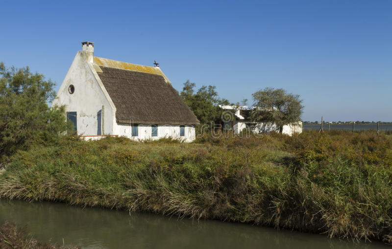 Maison de gardien, Camargue, France photo stock