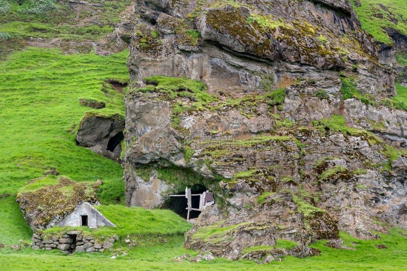 Maison de gazon en Islande photo libre de droits