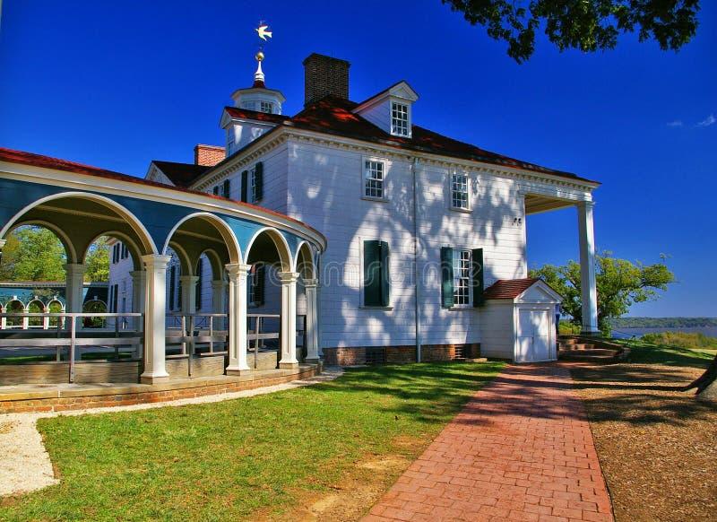 Maison de George Washington, Mount Vernon en Virginie image libre de droits