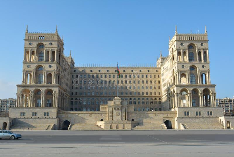 maison de gouvernement à Bakou, Azerbaïdjan image libre de droits