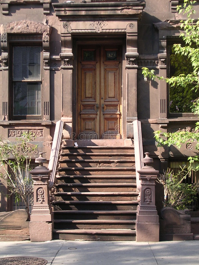 Maison de grès de New York. photos libres de droits