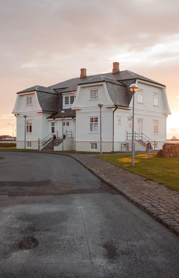 Maison de Hofdi photographie stock libre de droits