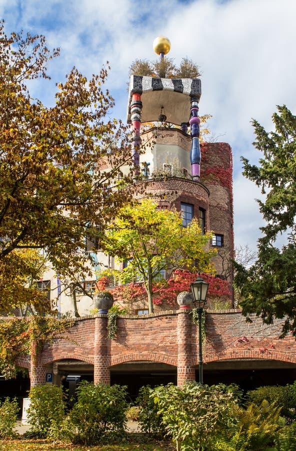 Maison de Hundertwasser, mauvais Soden, Allemagne photos stock