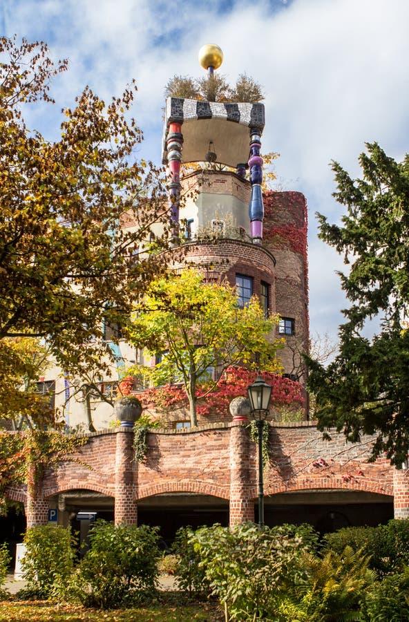 Maison de Hundertwasser, mauvais Soden, Allemagne photographie stock libre de droits