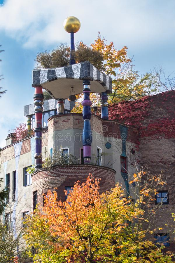 Maison de Hundertwasser, mauvais Soden, Allemagne images libres de droits