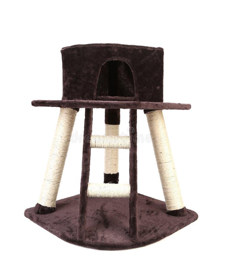 maison de jouet de chat avec l 39 chelle image stock. Black Bedroom Furniture Sets. Home Design Ideas