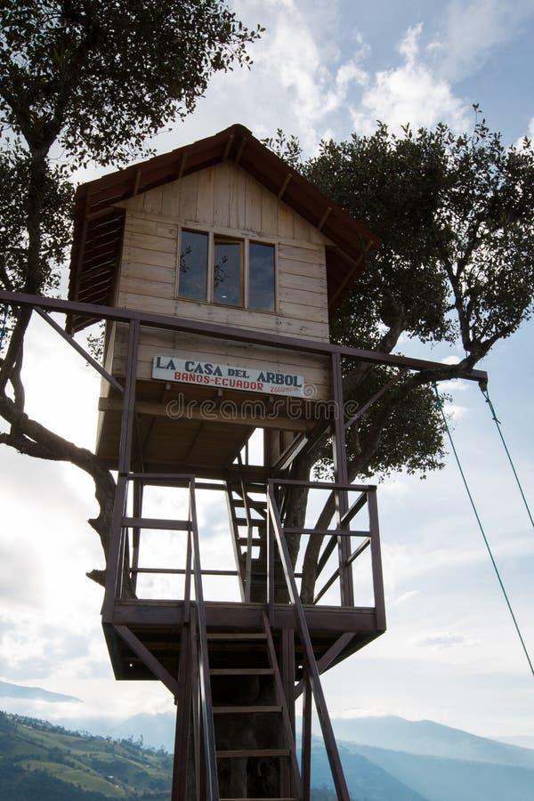 Maison de La del Arbol dans Banos, Equateur photo stock