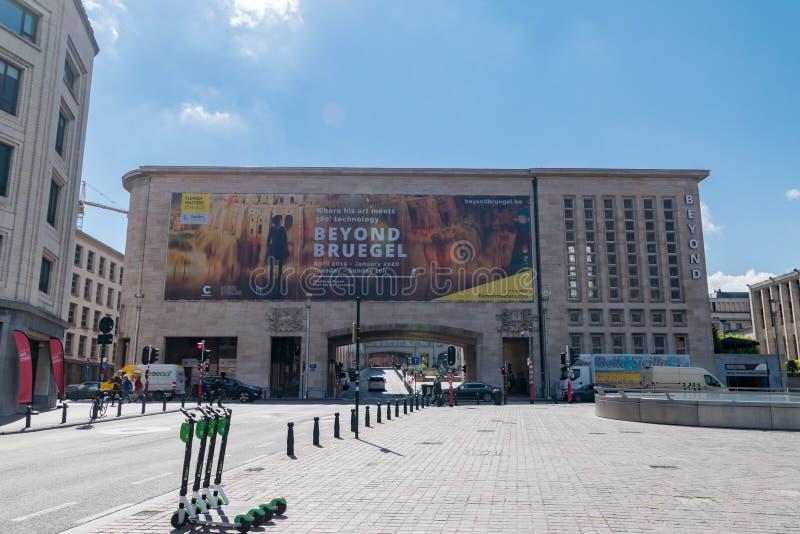 Maison de la Dynastie Bruxelles während der Ausstellung Beyond stockfotos