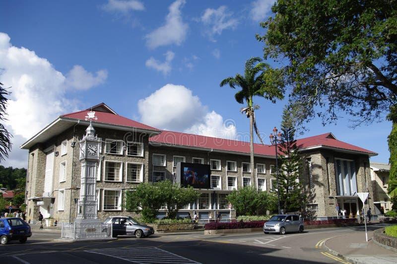 Maison de liberté et tour d'horloge dans Victoria, Seychelles photographie stock libre de droits