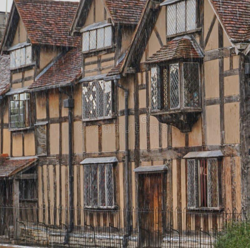 Maison de lieu de naissance de William Shakespeare dans Stratford, Angleterre images stock