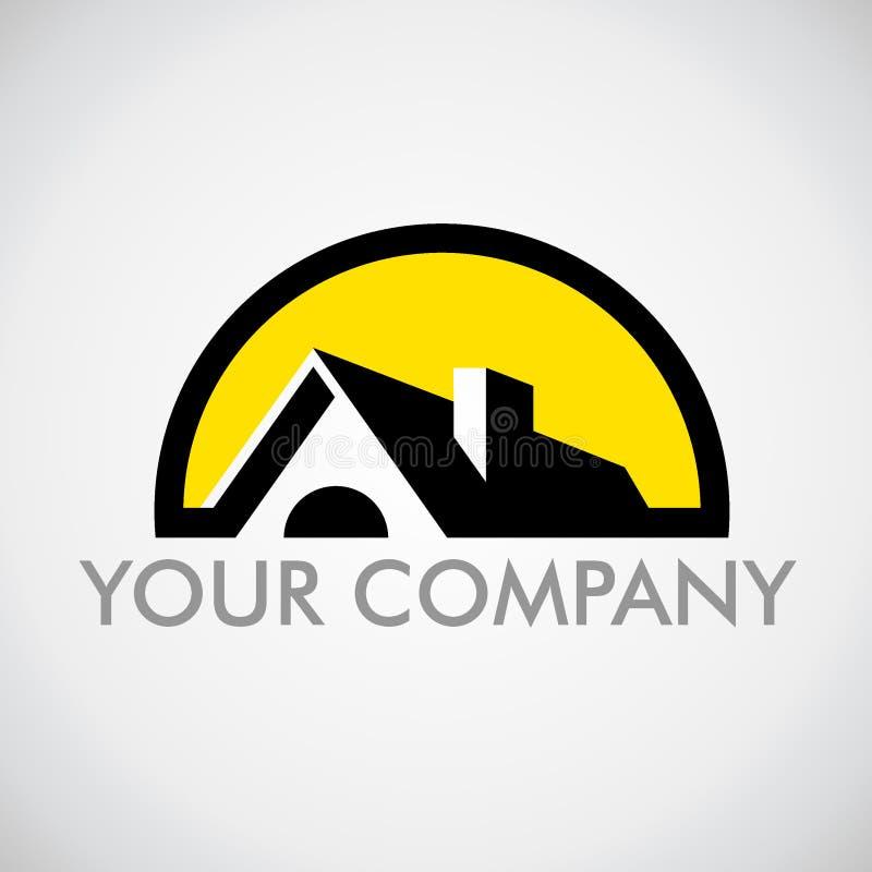 Maison de logo Logo pour la marque déposée de société illustration de vecteur