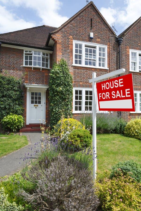 Maison de Londres ? vendre photographie stock
