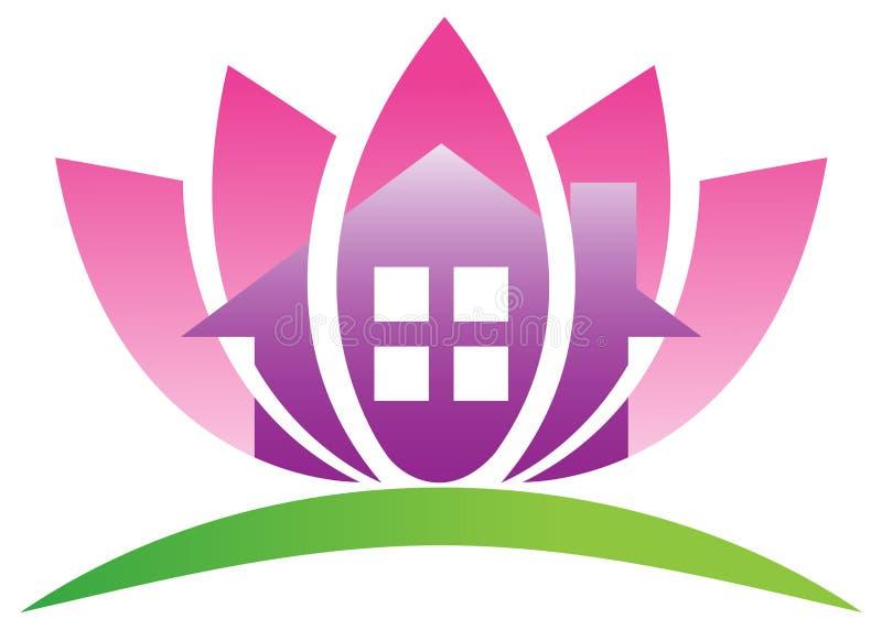 Maison de lotus illustration de vecteur