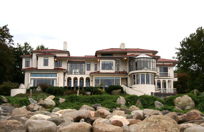 Maison de luxe d'immeubles photo libre de droits