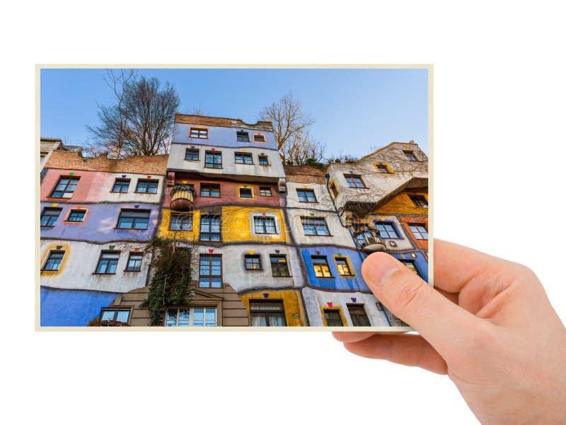 Maison de main et de Hundertwasser à Vienne Autriche ma photo image stock