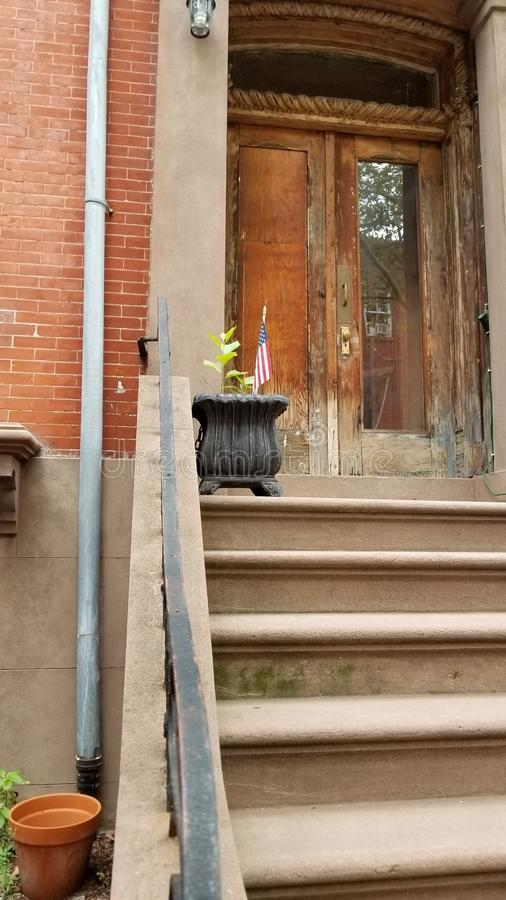 Maison de maison de grès en Carroll Gardens Brooklyn images stock
