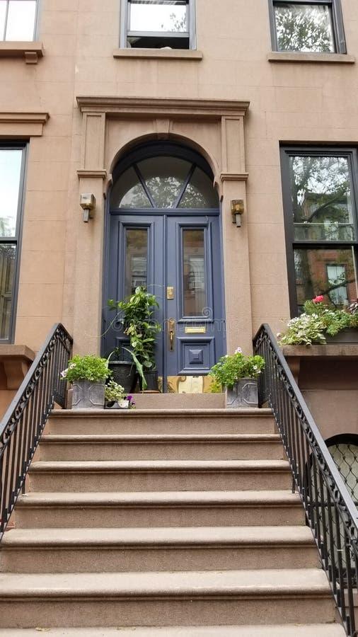 Maison de maison de grès en Carroll Gardens Brooklyn images libres de droits