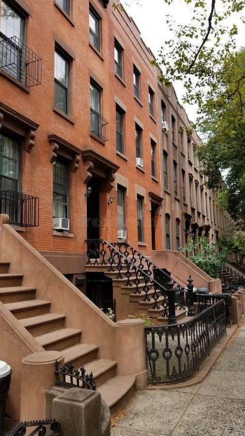 Maison de maison de grès en Carroll Gardens Brooklyn photo libre de droits