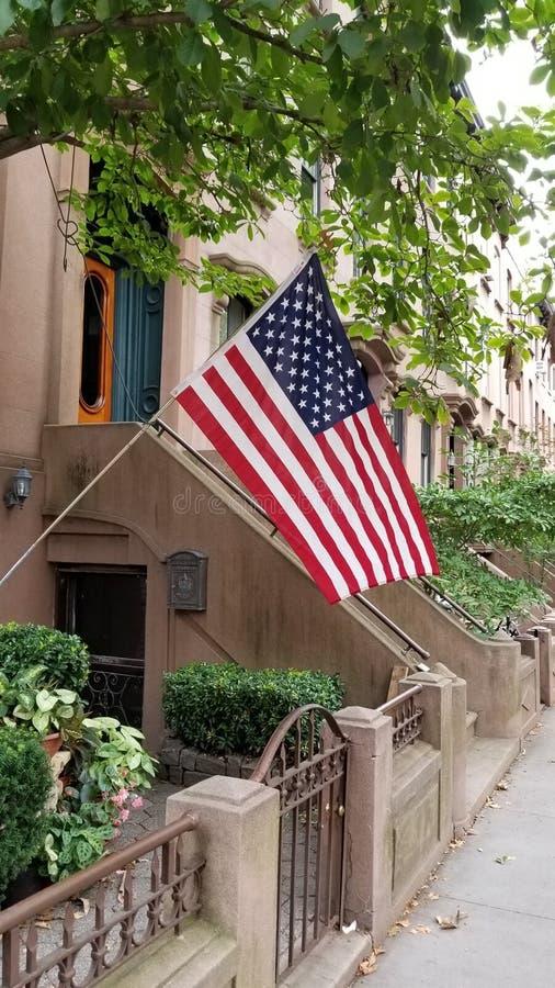Maison de maison de grès en Carroll Gardens Brooklyn photo stock