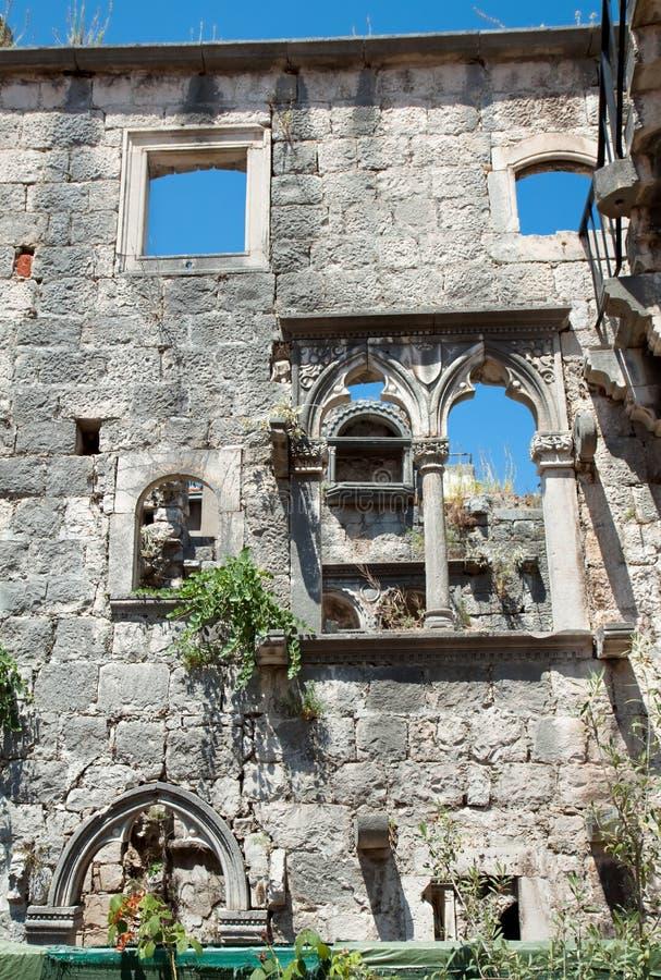 maison de Marco Polo sur l'île de Korcula photos stock