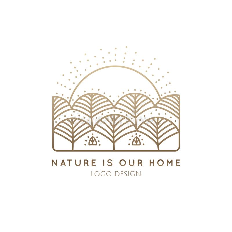 Maison de nature de logo illustration stock