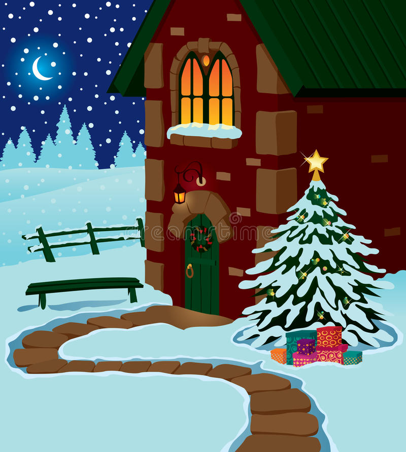 Maison de Noël illustration de vecteur