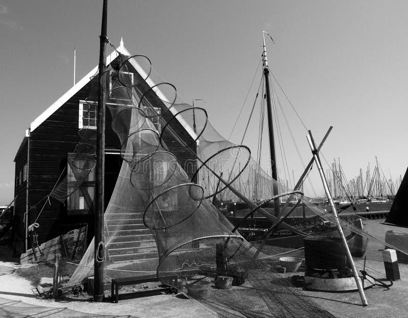 Maison de pêcheur, la Hollande-Septentrionale images libres de droits