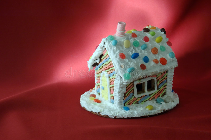 Maison de pain d'épice de Noël images stock