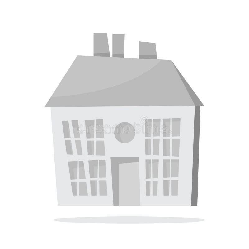 Maison de papier de Noël blanc Bâtiment mignon appartement illustration libre de droits
