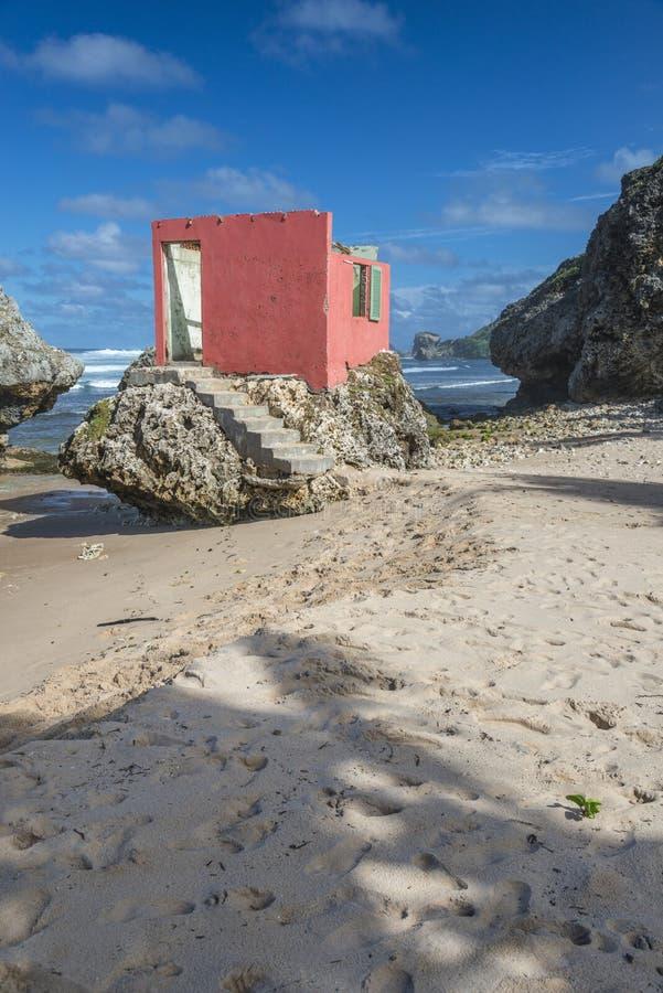 Maison de plage ruinée Bathsheba Barbados photos libres de droits