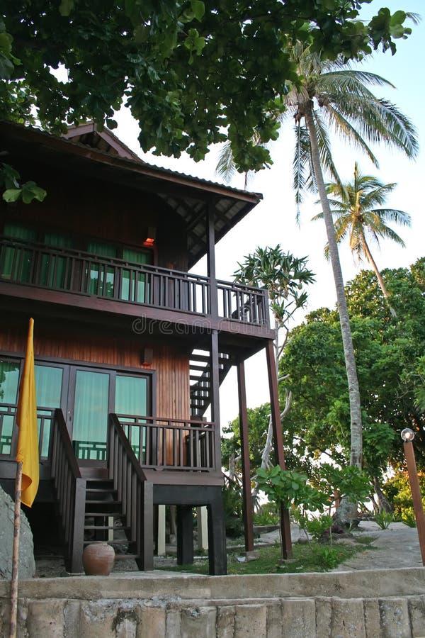 Maison de plage tropicale image libre de droits