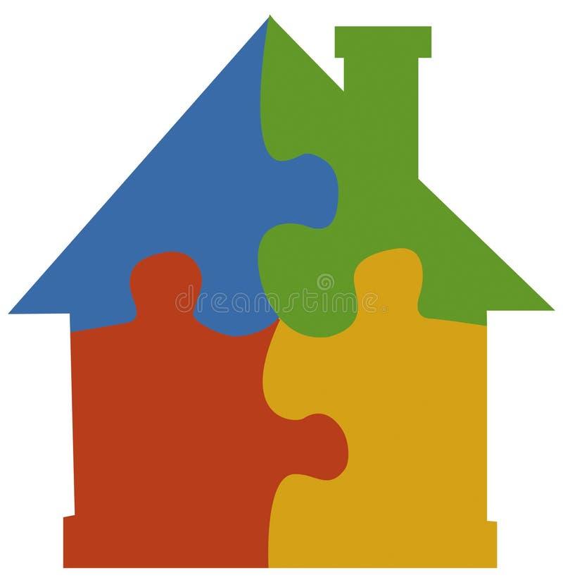 Maison de puzzle denteux illustration libre de droits