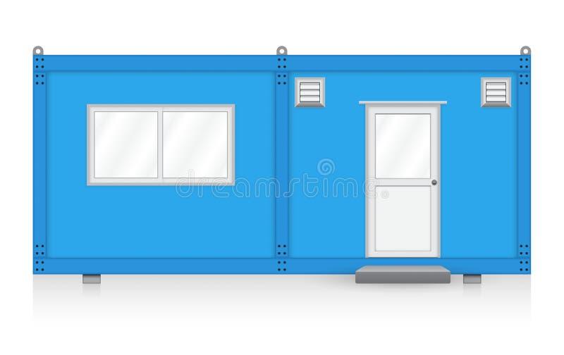 Maison de récipient illustration de vecteur
