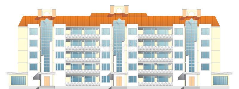 maison de rapport de Cinq-étage illustration de vecteur