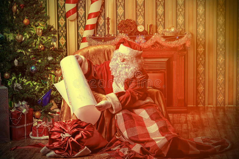 Maison de Santa photo stock
