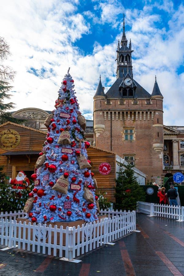 Maison de Santa Claus, Place du Capitole sur Noël à Toulouse, France photo stock
