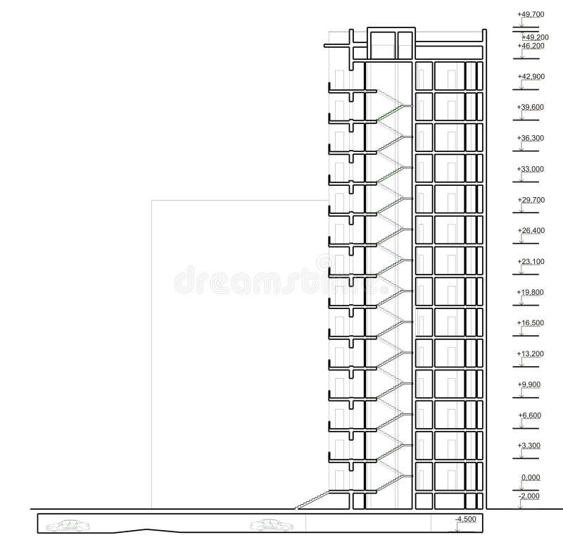 Maison de section verticale illustration libre de droits