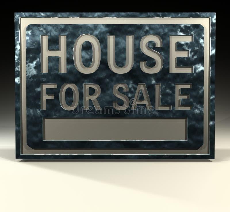 Maison de signe d'information à vendre illustration stock