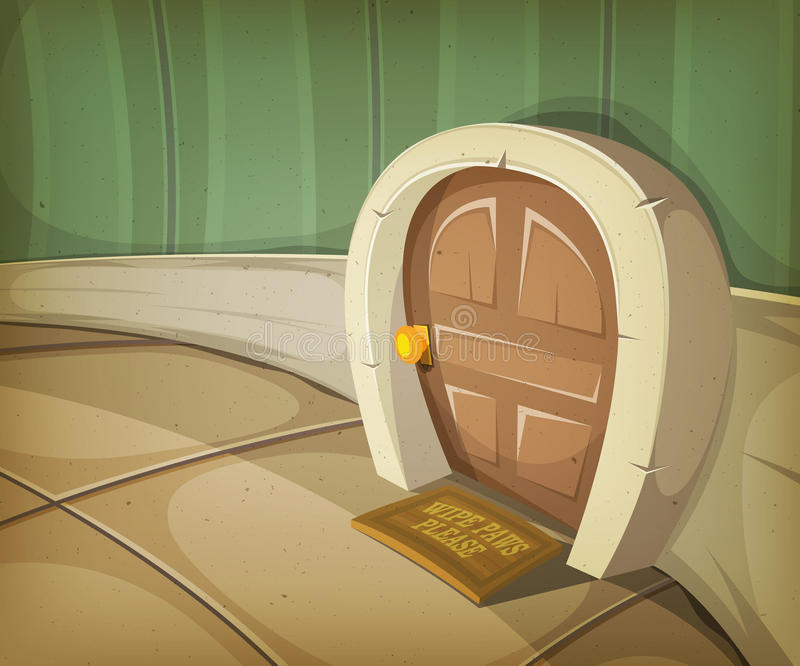 Maison de souris à l'intérieur de Chambre illustration libre de droits