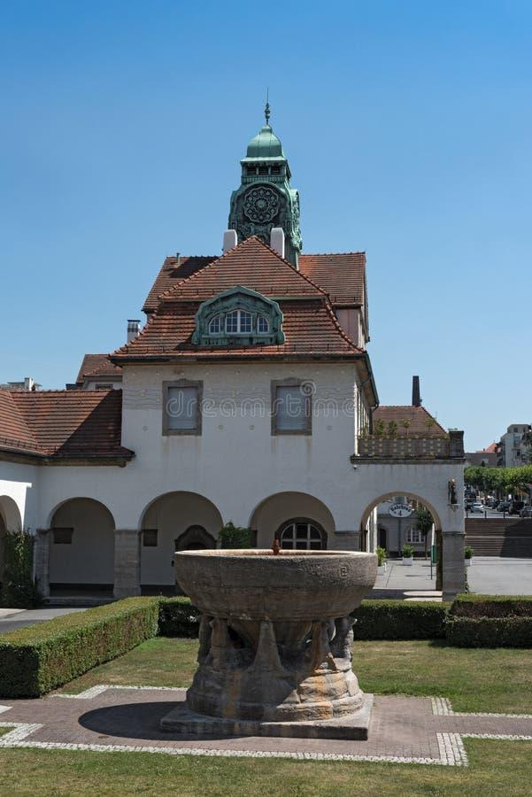 Maison de station thermale de Sprudelhof, mauvais Nauheim, Hesse, Allemagne images libres de droits