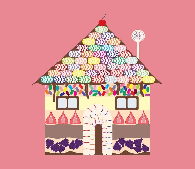 Maison de sucrerie illustration stock