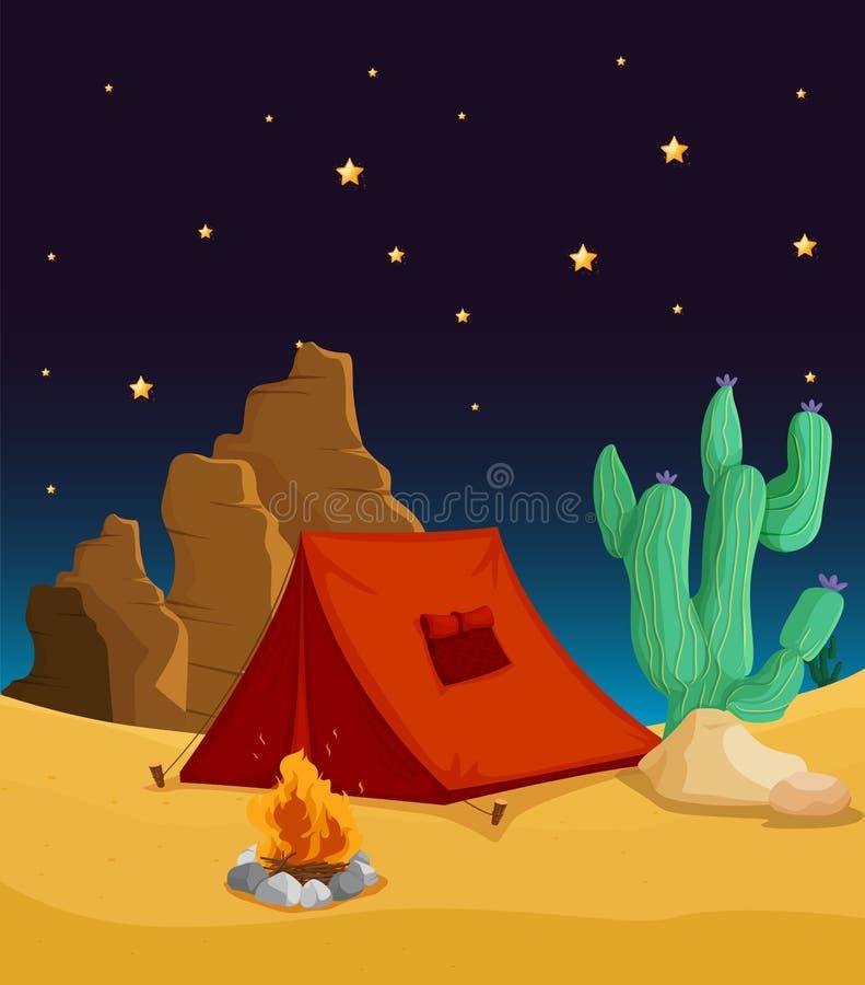 Maison de tente illustration de vecteur