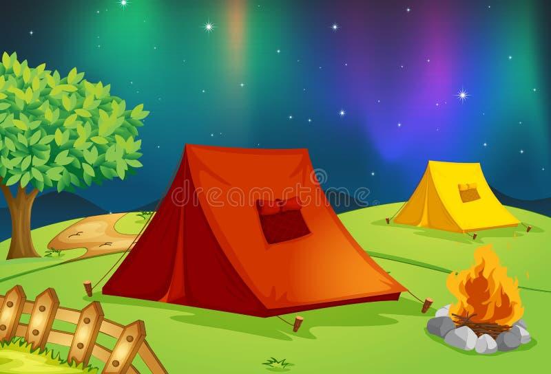 Maison de tente illustration stock