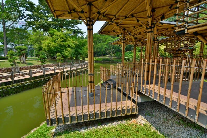 Maison De Théâtre En Bambou Jardin Botanique De Perdana ...