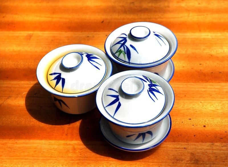Maison de thé en bambou photos libres de droits