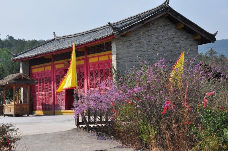 Maison de Tibétain de campagne photographie stock libre de droits