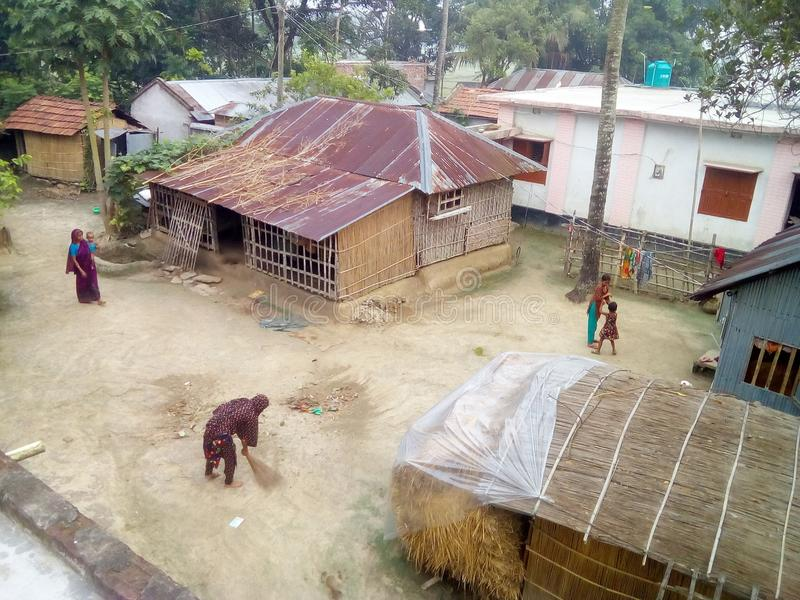 Maison de village images libres de droits