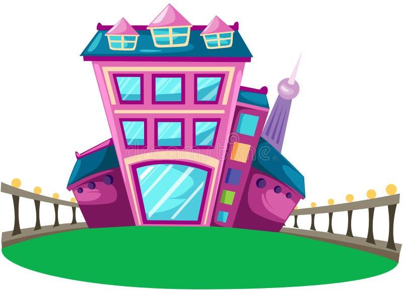 Maison de ville illustration de vecteur